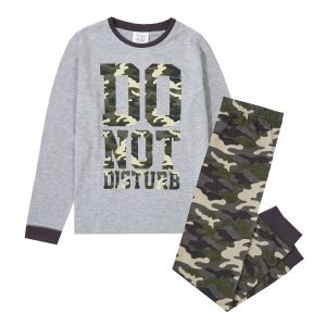 Childrens Do Not Disturb Camo Pyjama Set