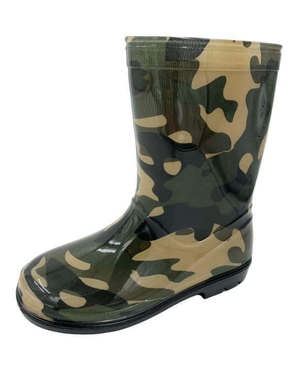 Kids Camo Wellington Boots