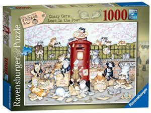Jigsaw Puzzle VINTAGE No9 CRAZY CATS LOST IN THE POST