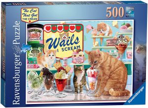 Jigsaw Puzzle THE CAT THAT GOT THE CREAM